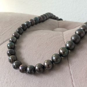 Plum Big Freshwater Pearls Necklace